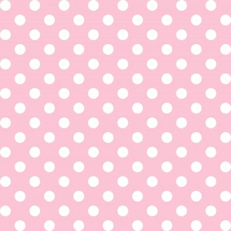 polka dot fabric: Seamless, grandi punti bianchi polka, pastello sfondo rosa. include campione di pattern che senza soluzione di continuit� riempire qualsiasi forma. Per le arti, artigianato, tessuti, decorazione, album, album.