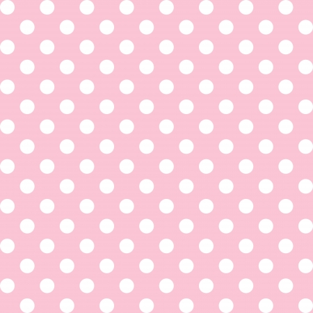 Seamless pattern, big white polka dots, pastel  pink background. includes pattern swatch that will seamlessly fill any shape. For arts, crafts, fabrics, decorating, albums, scrapbooks. Vector