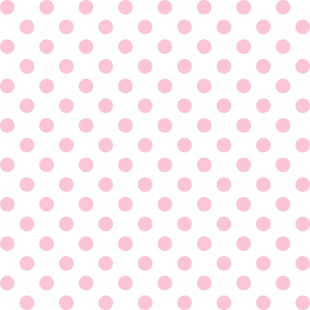 Seamless pattern, pastel pink polka dots, white background.   includes pattern swatch that will seamlessly fill any shape. For arts, crafts, fabrics, decorating, albums, scrapbooks. Illustration