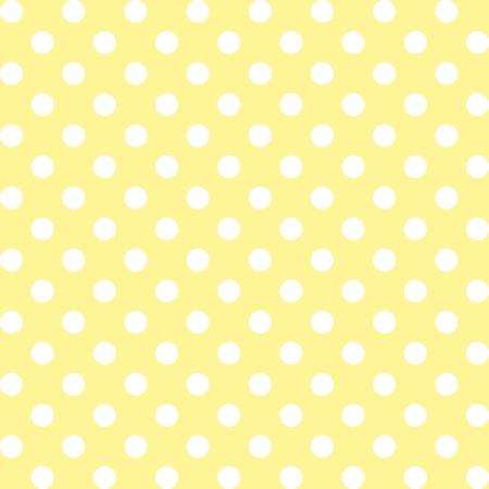 Seamless, grandi punti bianchi polka, pastello su sfondo giallo. include campione di pattern che senza soluzione di continuità riempire qualsiasi forma. Per le arti, artigianato, tessuti, decorazione, album, album.
