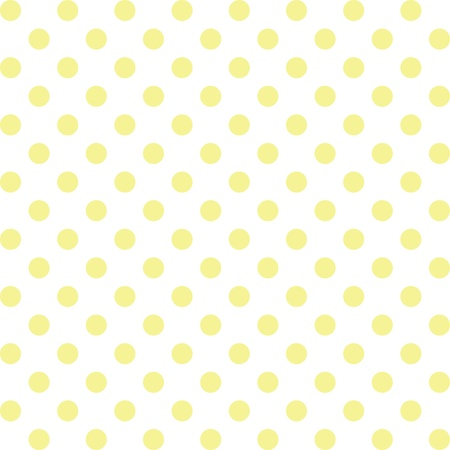 Seamless pattern, pastel yellow polka dots, white background. includes pattern swatch that will seamlessly fill any shape. For arts, crafts, fabrics, decorating, albums, scrapbooks. Vector