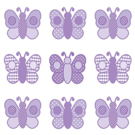 Baby van Vlinders, Pastel Lavendel Gingham en Polka Dots, voor plakboeken, albums, baby boeken.