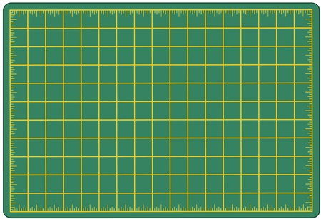 Self Healing Cutting Mat, green, for measuring and cutting materials for arts, crafts, sewing, quilting, applique, patchwork, do it yourself projects.