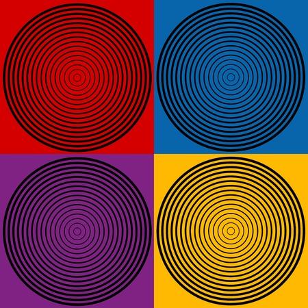 4 色のサークル デザイン パターン