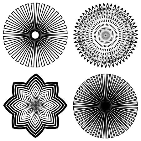 Outline Spiral Design Patterns Stock Vector - 12392289
