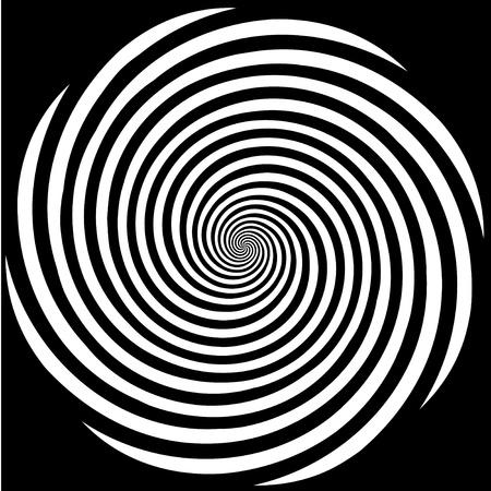 spiral: Hypnose Spiral Design Pattern. Concept voor hypnose, onbewust, chaos, buitenzintuiglijke waarneming, psychische, stress, spanning, optische illusie. Stock Illustratie