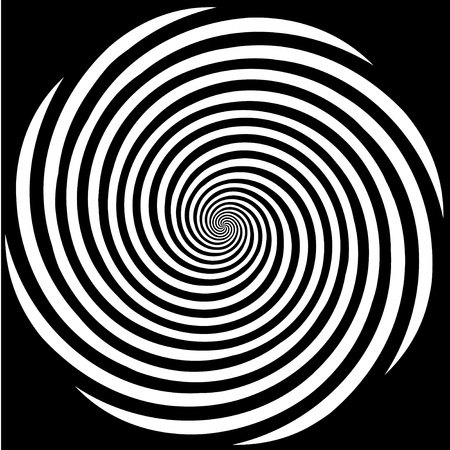 optical illusion: Hypnosis Spiral Design Pattern. Concept for hypnosis, unconscious, chaos, extra sensory perception, psychic, stress, strain, optical illusion.