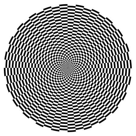 Spiral Design Illusion Background Pattern, Black on White  EPS8   イラスト・ベクター素材