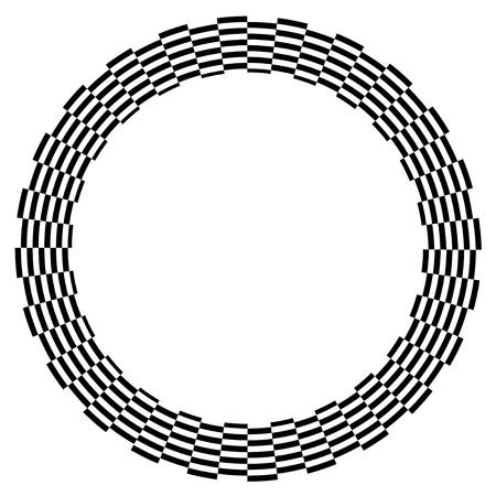 Checkerboard Frame, Spiral Design Border Pattern, Copy Space, Black on White  EPS8 Stock Vector - 12496748