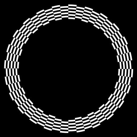 descending:  Checkerboard Frame, Spiral Design Border Pattern, Copy Space, White on Black  EPS8