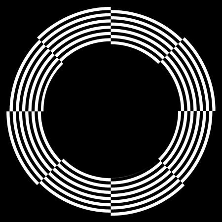 descending: Spiral Frame, Illusion Border, Broken Pattern Design, Copy Space, White on Black  EPS8
