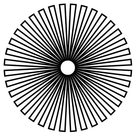 Black and White Circle Design Vector
