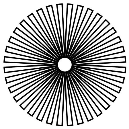 descending:  Black and White Circle Design