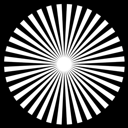 Black and White Circle Vector