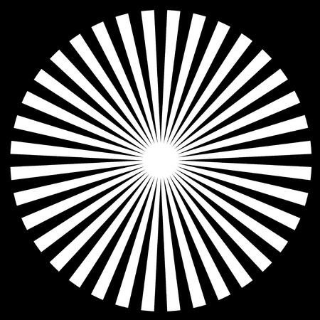 descending:  Black and White Circle