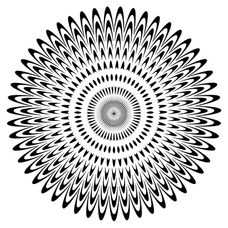 Black and White Circle Design Stock Vector - 12797553