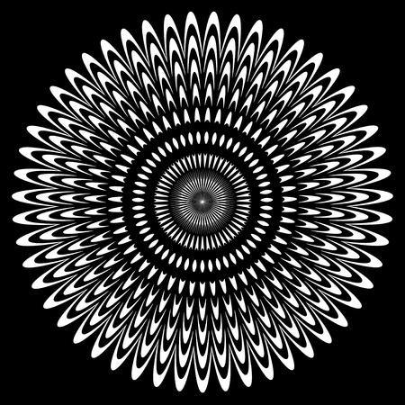 黒と白の円の設計  イラスト・ベクター素材