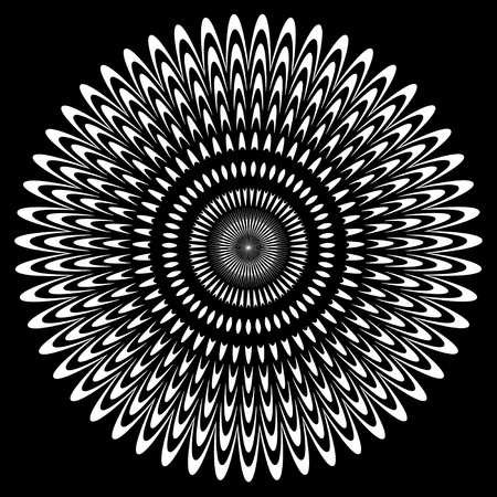 Black and White Circle Design Reklamní fotografie - 12797530
