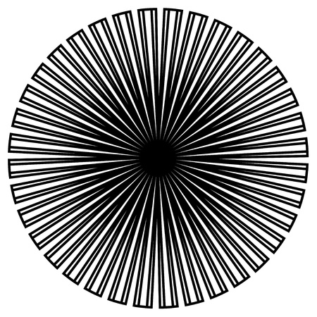 Black and White Circle Design