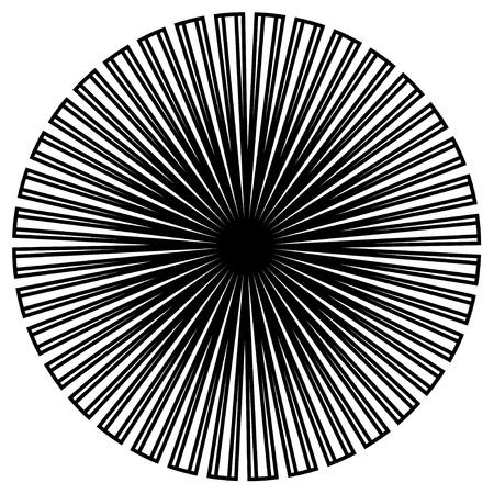 Black and White Circle Design Stock Vector - 12797547
