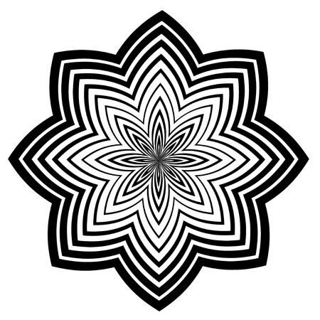 descending:  Black and White Design Pattern