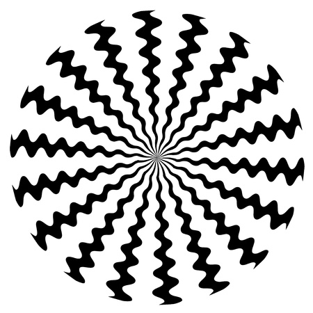 Zigzag Spiral Design Pattern Vector
