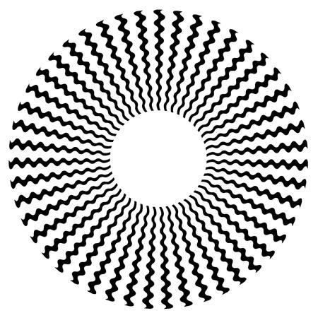 Zigzag Spiral Design Pattern Illustration