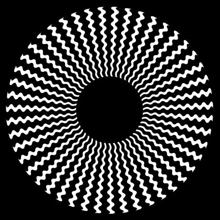 Zigzag Spiral Design Pattern Stock Vector - 12797534