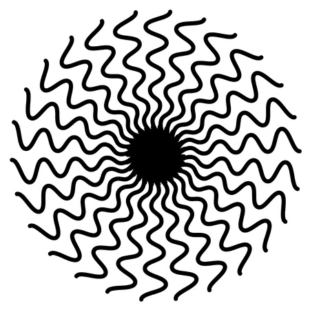 Zigzag Spiral Design Pattern Stock Vector - 12797415
