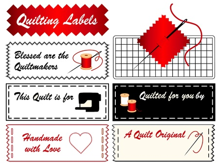 Quilting Labels  Needle Stock Vector - 12797538