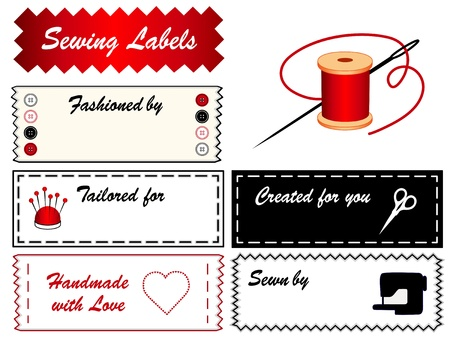 notions: Aguja de coser etiquetas Vectores