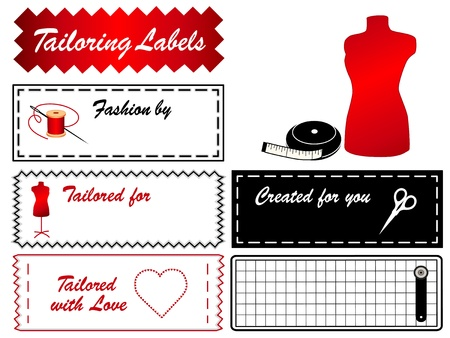 sew tags: Tailoring Labels  Model Illustration