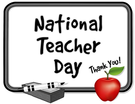 whiteboard: National Teacher Day Illustration