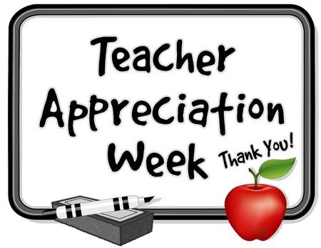 educadores: Maestro Semana de Agradecimiento Vectores