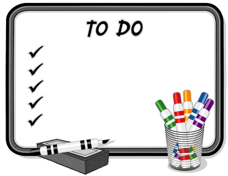 To Do List on Whiteboard Stock Vector - 12797620
