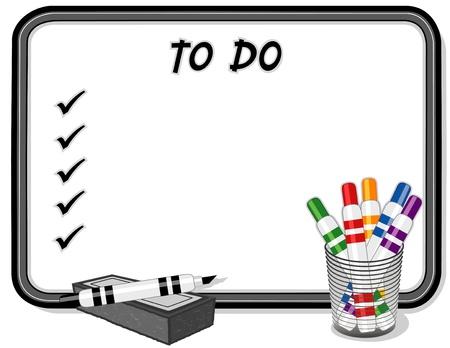 whiteboard: To Do List op Whiteboard Stock Illustratie