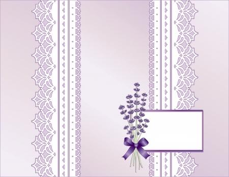 festonati: Pizzo antico, in stile vittoriano, pastello satin color lavanda, Sweet bouquet di fiori di lavanda, carta regalo con copia spazio per la Festa della Mamma s, compleanni, anniversari, matrimoni, docce, celebrazioni