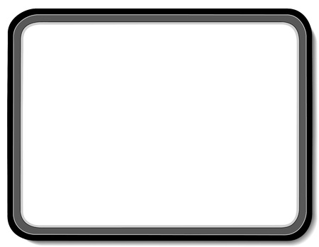 Whiteboard with black border, Copy space to add text, notes or drawings for home, school, office, business and do it yourself projects
