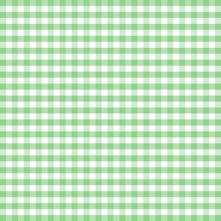 원활한 패턴, 파스텔 그린과 화이트 깅엄 체크 배경 일러스트