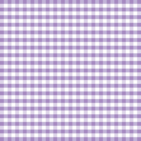 Seamless Pattern, Pastel Lavender and white gingham check background     Vector