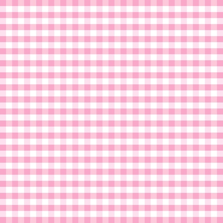 Seamless Pattern, Pastel Pink and white gingham check background    Vector
