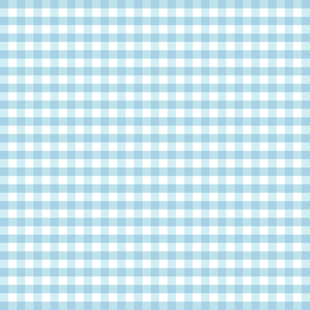 Seamless Pattern, Pastel Aqua and white gingham check background    Illustration