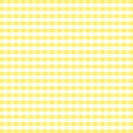 シームレスなパターン、パステル黄色および白いギンガム チェック バック グラウンド