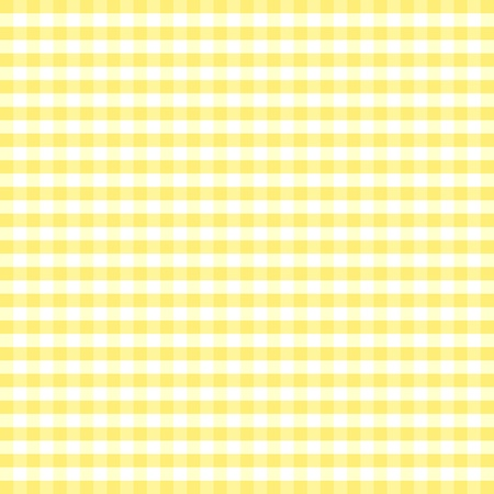gingham: Seamless Pattern, Pastel Yellow and white gingham check background