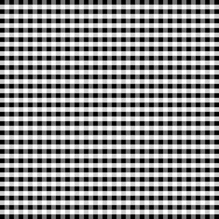 Naadloze Patroon, Zwart en Wit Gingham Controleer Achtergrond