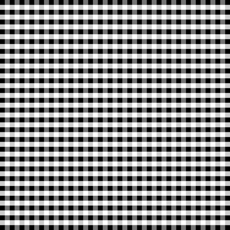Seamless Pattern, Black and White Gingham Check Background