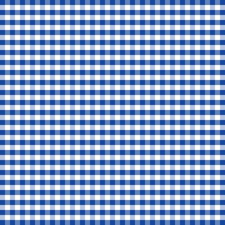 원활한 패턴, 블루와 화이트 깅엄 체크 배경 일러스트
