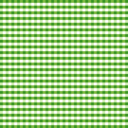 Seamless Pattern, Green and White Gingham Check Background     Vector