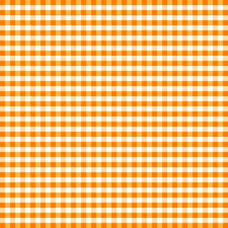 Naadloze Patroon, oranje en wit Gingham Controleer Achtergrond