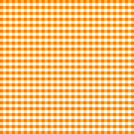Seamless Pattern, Orange and White Gingham Check Background